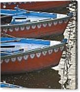 Ganges River, Varanasi, India Moored Acrylic Print