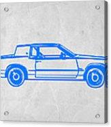 Gangster Car Acrylic Print by Naxart Studio