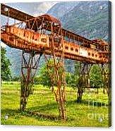 Gantry Crane Acrylic Print