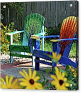 Garden Chairs Acrylic Print