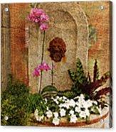 Garden Deco Acrylic Print