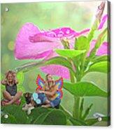 Garden Fairy Friends Acrylic Print