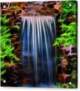 Garden Falls Fractalized Acrylic Print