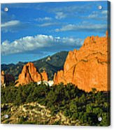 Garden Of The Gods Front Side View Acrylic Print