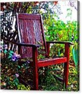Garden Seating Acrylic Print