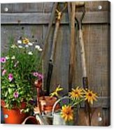 Garden Shed With Tools And Pots  Acrylic Print