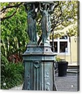 Garden Statuary In The French Quarter Acrylic Print
