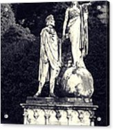 Garden Statue At Villa Capri Acrylic Print