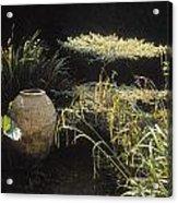 Garden Urns In A Garden Acrylic Print