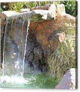 Garden Waterfall Acrylic Print