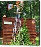 Garden Windmill Acrylic Print