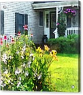 Garden With Coneflowers And Lilies Acrylic Print