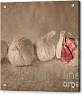 Garlic And Textures Acrylic Print