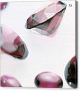 Garnet Gemstones Acrylic Print by Lawrence Lawry