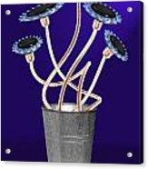Gas Flowers Acrylic Print by Alice Gosling