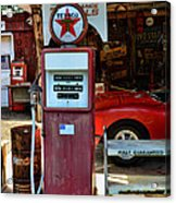 Gas Pump - Texaco Gas Globe Acrylic Print