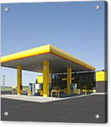 Gas Station Acrylic Print by Jaak Nilson