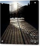Gate In Backlight Acrylic Print