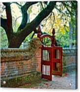 Gate In Brick Wall Acrylic Print