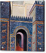 Gate Of Ishtar, Babylonia Acrylic Print by Photo Researchers