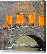 Gates Over Gapstow Bridge  Acrylic Print by Frank Winters