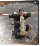 Gator Wrestling Acrylic Print
