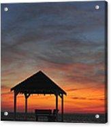 Gazebo At Sunset Seaside Park, Nj Acrylic Print