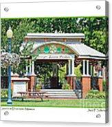 Gazebo In Downtown Monroe Acrylic Print