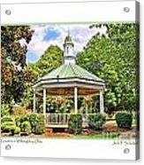 Gazebo In Willoughby Ohio Acrylic Print