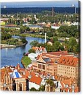 Gdansk Cityscape Acrylic Print