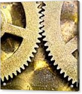 Gears From Inside A Wind-up Clock Acrylic Print by John Short