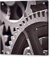 Gears Number 3 Acrylic Print by Steve Gadomski