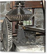Gears Of The Old Grist Mill Acrylic Print