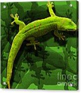 Gecko-gecko-gecko Acrylic Print