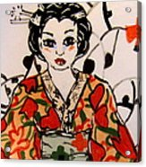 Geisha In Training Acrylic Print by Patricia Lazar