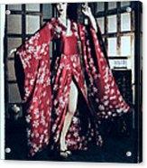 Geisha Acrylic Print by Maynard Ellis