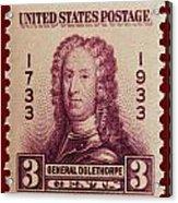 General James Oglethorpe Postage Stamp Acrylic Print