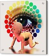Genetically- Engineered Baby Acrylic Print by Victor Habbick Visions