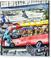 Genoa Sightseeing City Bus Acrylic Print