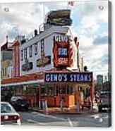 Geno's Steaks - South Philadelphia Acrylic Print