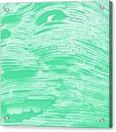 Gentle Giant In Negative Green Acrylic Print