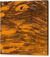 Gentle Giant In Negative Orange Acrylic Print