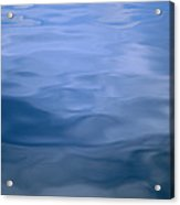 Gently Rippled Blue Water Acrylic Print