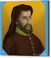 Geoffrey Chaucer, Father Of English Acrylic Print