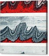 Geologic Crumpling Acrylic Print