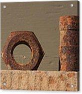 Geometry In Rust Acrylic Print