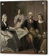 George And Martha Washington Sitting Acrylic Print by Everett