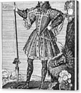 George Cumberland (1558-1605). George De Clifford Cumberland. 3rd Earl Of Cumberland. English Naval Commander And Courtier. Line Engraving, English, Early 19th Century Acrylic Print