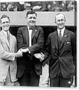 George Sisler, Babe Ruth And Ty Cobb Acrylic Print by Everett