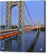 George Washington Bridge At Twilight Acrylic Print